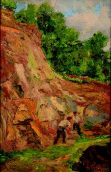 Two men in a quarry