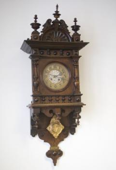 Wanduhr - Holz, Messing - 1850