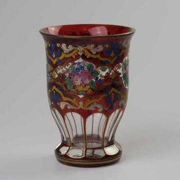 Glasbecher - klares Glas - 1870
