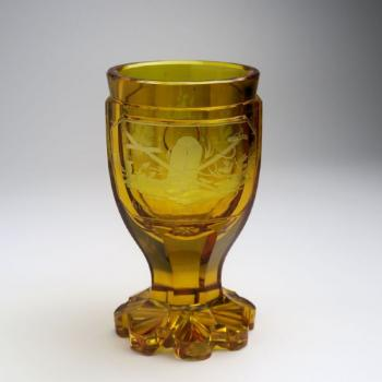 Glasbecher - klares Glas - 1840