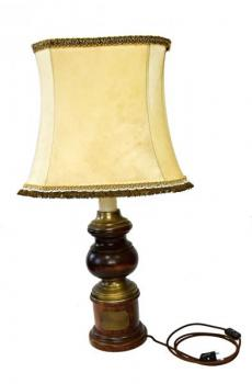 Stehlampe - Holz, Stoff - 1889